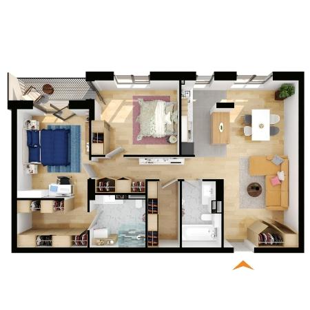 Apartamente 3 camere cu CF în blocul A