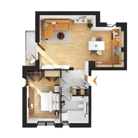 Apartamente 2 camere în imobil C