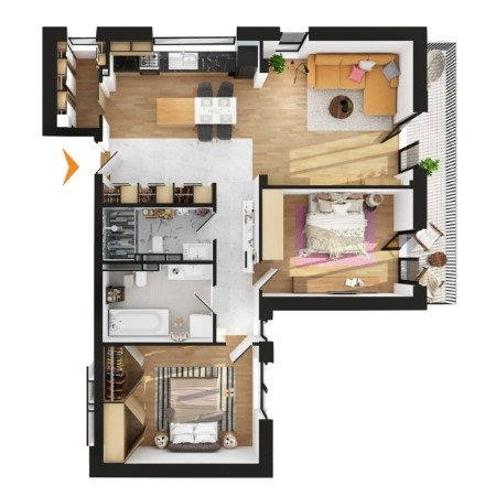 Apartamente 3 camere în imobil C