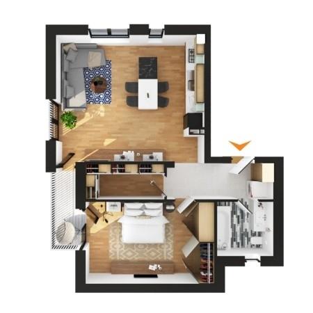 Apartamente 2 camere în imobil D