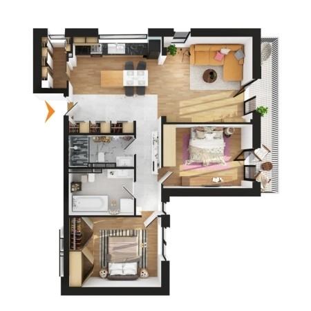 Apartamente 3 camere în imobil D