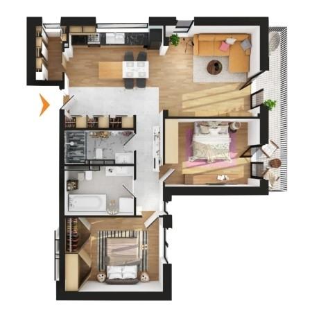 Apartamente 3 camere în imobil E