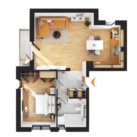 Apartamente 2 camere în imobil G