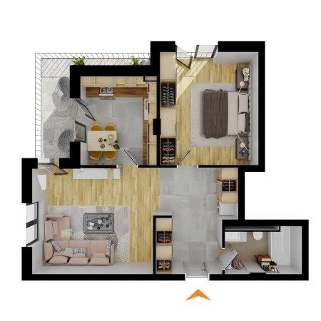 Apartamente 2 camere în imobil H