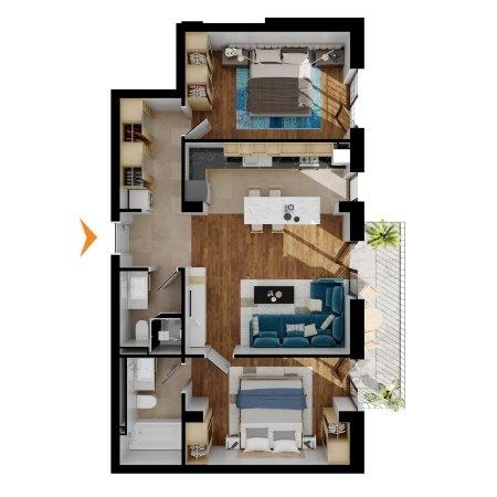 Apartamente 3 camere în imobil H